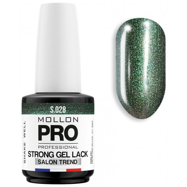 Vernis Permanent Soak Off Strong Gel Lack Malachite - 028