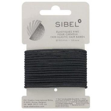 Élastiques fins Noirs 16 pièces Sibel