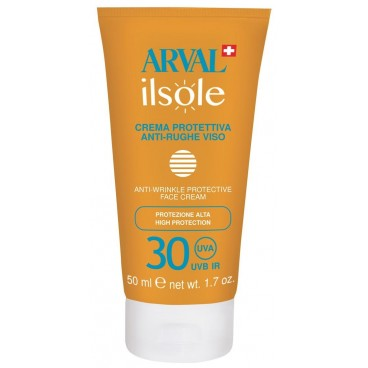 Crème Protectrice Visage Anti-rides SPF30 50ml Il Sole - Arval