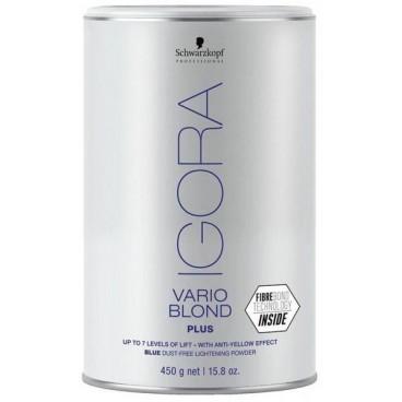 Poudre décolorante bleue Vario Blond Plus 450 Grs