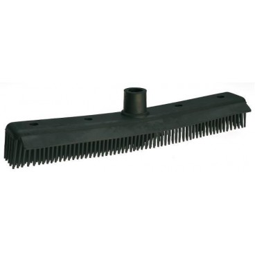 Rubber brush with scraper