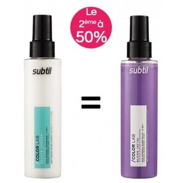Pack Soin Intégral Subtil colorlab blond éclat 12 en 1 150ml + Soin intégral 11 en 1 150ml à -50%