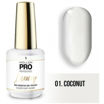Vernis semi-permanent LUXURY Coconut N°1 Mollon Pro - 8ML