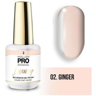 Vernis semi-permanent LUXURY N°2 Ginger Mollon Pro - 8ML
