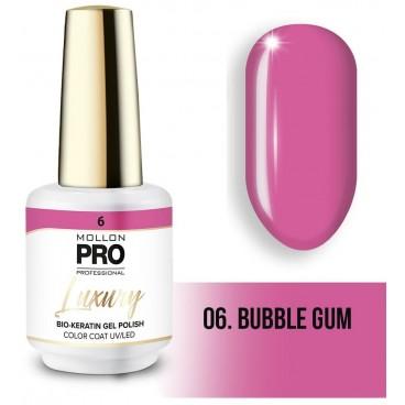 Vernis semi-permanent LUXURY N°6 Bubble gum Mollon Pro - 8ML