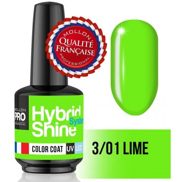 Mini Vernis Semi-Permanent Hybrid Shine Mollon Pro 8ML n°301
