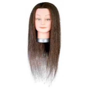 Tête apprentissage Diana cheveux naturels 45-50cm