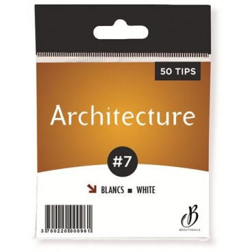White Architecture Tips n07 - 50 tips Beauty Nails AB07-28