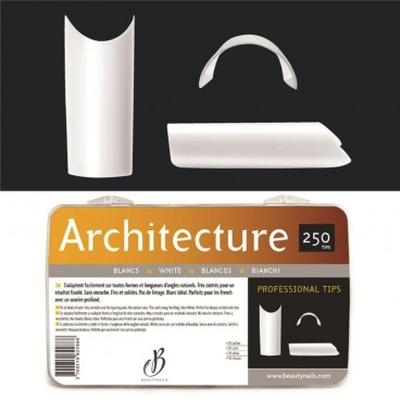 Capsules Architecture blanches - 250 tips Beauty Nails