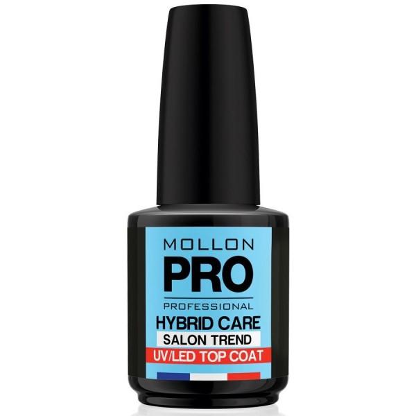 Top Coat Vernis Semi-Permanent Hybrid Shine Mollon Pro