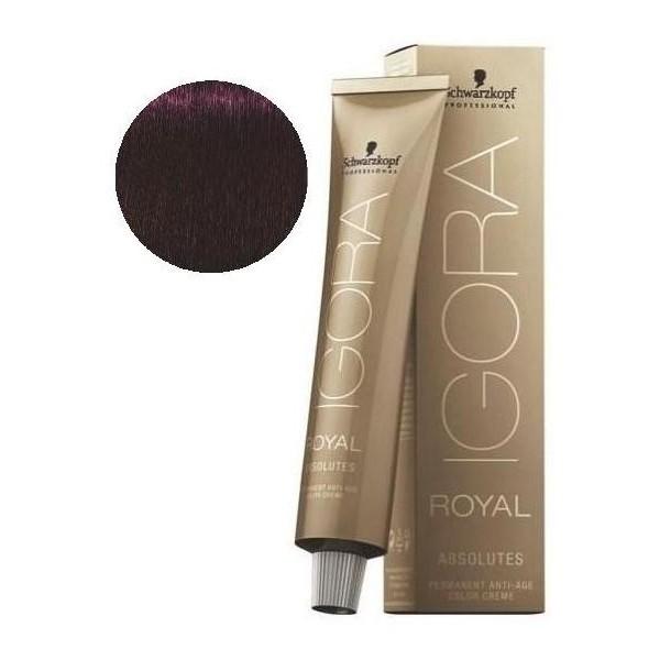 Igora Royal Absolutos 4-90 forma natural de color marrón púrpura