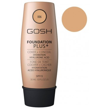 Fond de teint couvrance extrême n°06 Honey - Foundation Plus+ GOSH 30ML