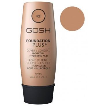 Fond de teint couvrance extrême n°08 Golden - Foundation Plus+ GOSH 30ML