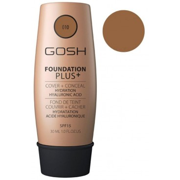 Fond de teint couvrance extrême n°10 Tan - Foundation Plus+ GOSH 30ML