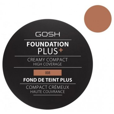 Fond de teint crème n°08 Golden - Foundation Plus + GOSH 30ML