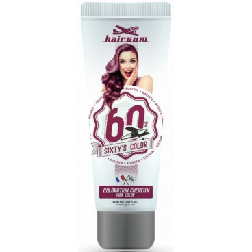 Coloration crème semi-permanente Sixty's Color - Aubergine HAIRGUM 60ML