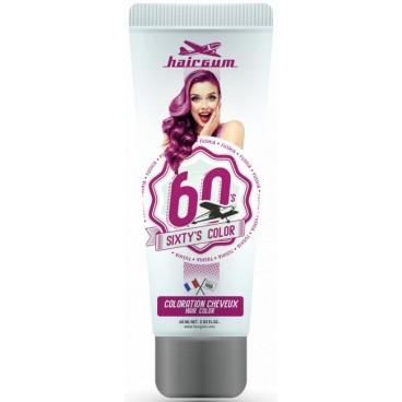 Coloration crème semi-permanente Sixty's Color - Aubergine HAIRGUM 60ML