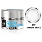 Gel de Construction UV/Led Mollon Pro 30 ml Snowy White -07