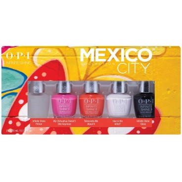 OPI Mexico - Coffret de 5 mini vernis Infinite Shine
