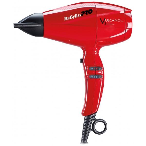 Sèche-cheveux ionic Vulcano rouge 2200W Babyliss Pro