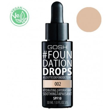 Base de maquillaje n ° 002 Ivory Foundation Drops GOSH 30ML