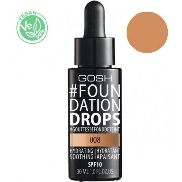 Fond de teint n°008 Honey Foundation Drops GOSH 30ML