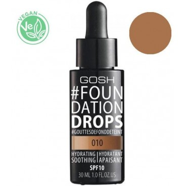 Fond de teint n°010 Tan Foundation Drops GOSH 30ML
