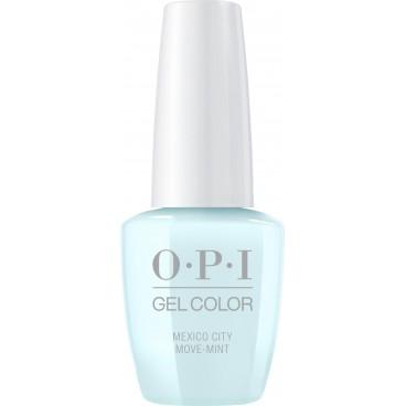 OPI Gel Color Barniz - Ciudad de México Move-mint 15ML