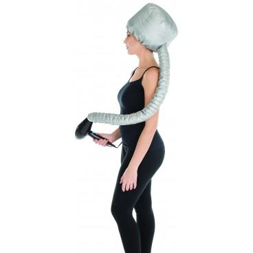 Bonnet pour seche cheveux avec extension argent