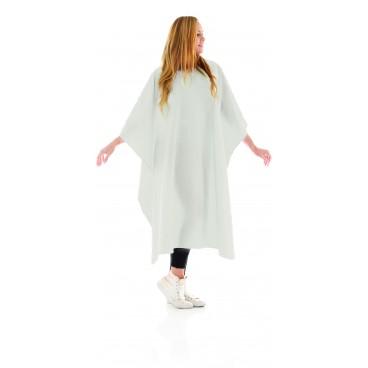 Comfortable white cape