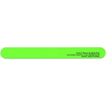 Lime double face verte lavable - grains moyens 180/180