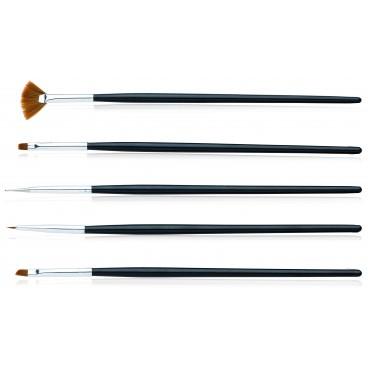 Kit de 5 pinceaux nail art
