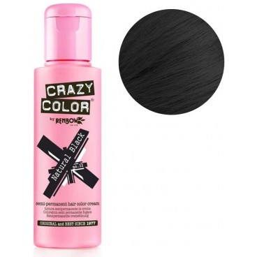 Coloration semi-permanente Black CRAZY COLOR 100ML