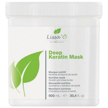 Masque cheveux sensibles Deep Keratin LISSA'Ô 900ML
