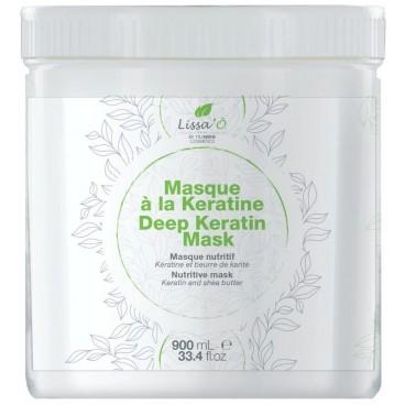 Maschera capelli sensibili Deep Keratin LISSA'Ô 900ML