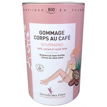 Gommage corps au café Gourmand bio SECRETS DES FEES 200g