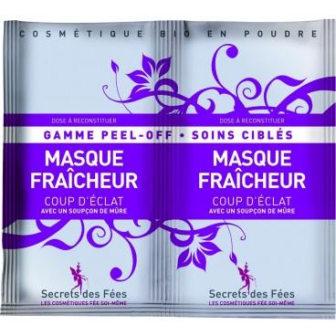 Masque peel-off fraicheur Coup d'éclat bio SECRETS DES FEES 2x16g