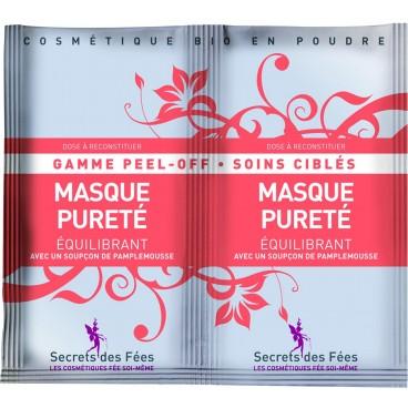Masque peel-off Pureté équilibrant bio SECRETS DES FEES 2x16g