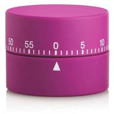 Minuteur mécanique violet
