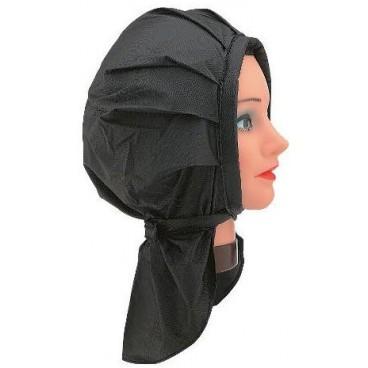 Cuffia permanente plastica nera