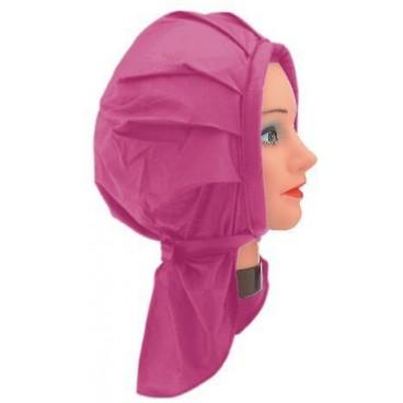 Cuffia pemanente plastica rosa