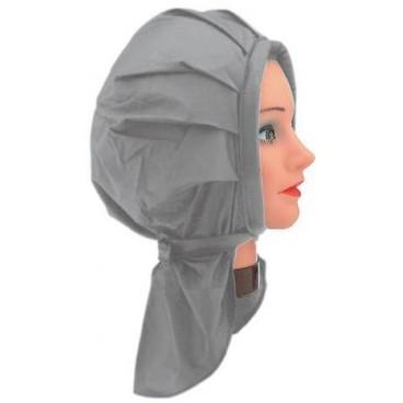 Cuffia permanente plastica grigia
