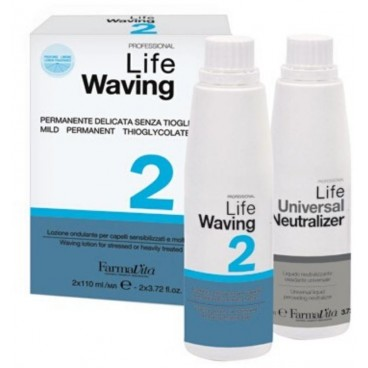 Permanente Life acidperm 2 cheveux fragiles FARMATIVA 110+110ML