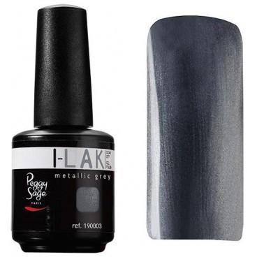 Gel UV I-Lak Soak off Peggy Sage metallic grey