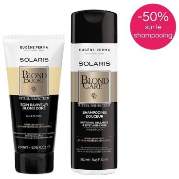 Pack Solaris Soin raviveur de blond et Shampooing BlondCare Eugène Perma