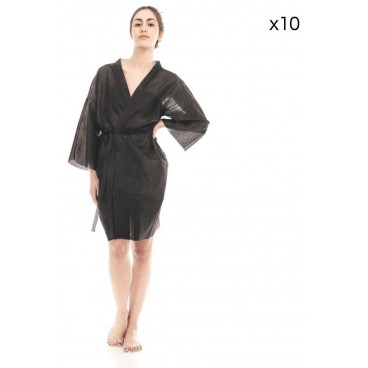 Kimono en tissu noir x10