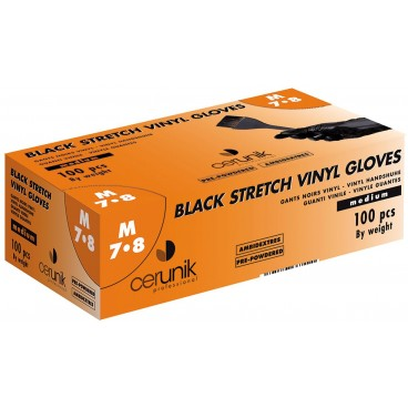 Gants vinyles Blackynyl Cerunik taille M 7/8  x100