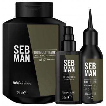 Gel nettoyant corps cheveux et barbe The Multi-Tasker SEBMAN 250ML