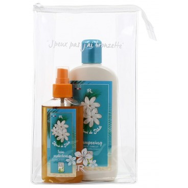 Pack Shampooing solaire 250 ml et spray protection 100 ml au Monoï + Pochette OFFERTE GENERIK