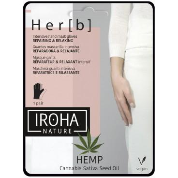 Her[b] Gants masque reparateur&relaxant intensif peau sèche Iroha